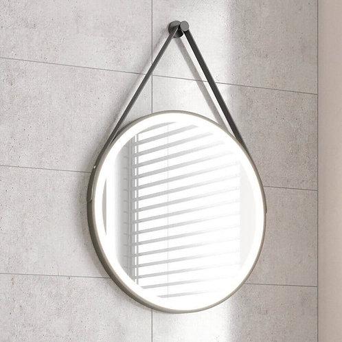 Bathworks Essential LED Illuminated Round Mirror - Matt Black