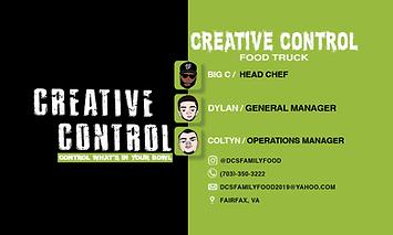 dcs creative control business card side