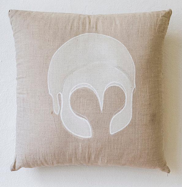 Athena helmet on pillow