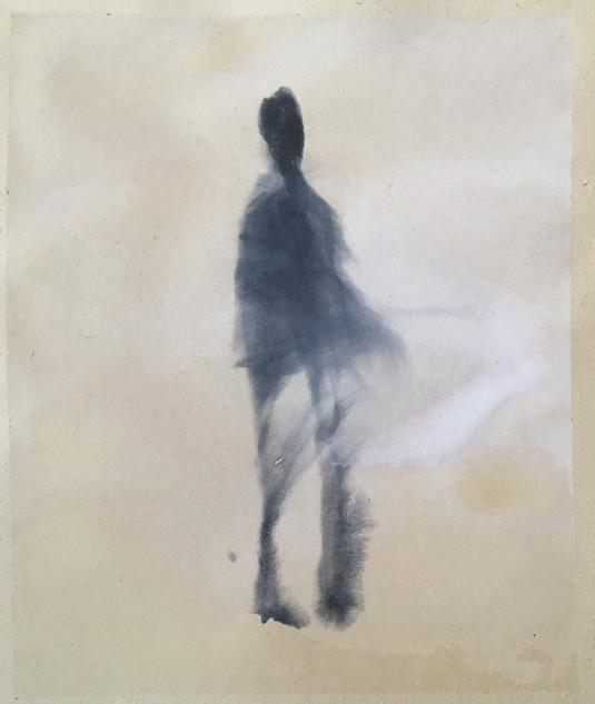 Windfrau, 40x30 cm