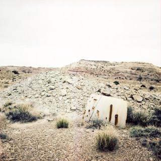 "Mine Core Samples, 40""x40"", 2018, Digital Pigment Print, Temple Mountain, Goblin Valley, Utah"