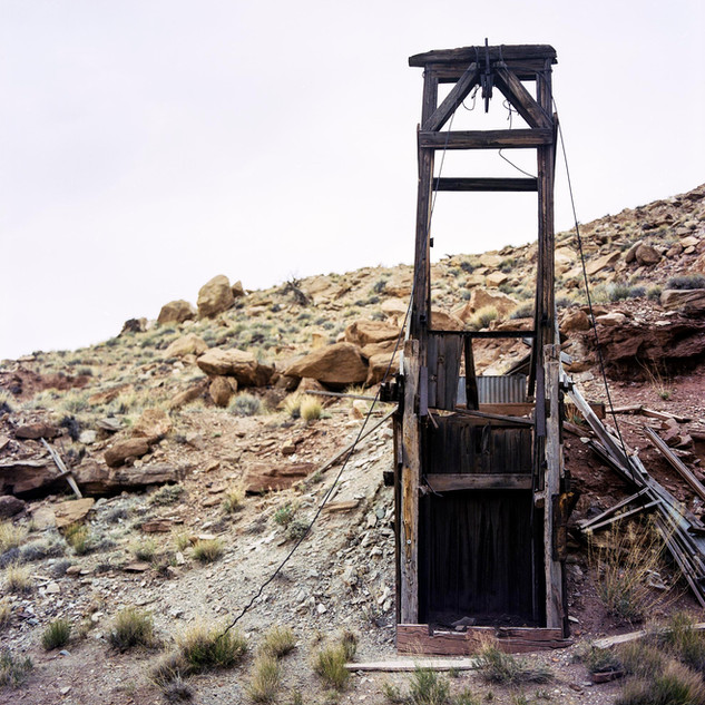 Vertical Uranium Mine Shaft