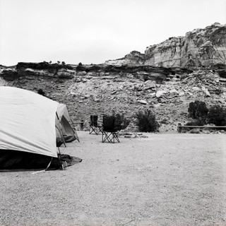 Tents in the shadow of Mines