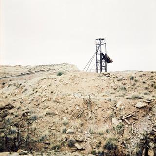 "Contemporary Uranium Ore Loader Site 1-A, 40""x40"", 2018, Temple Mountain, Goblin Valley, Utah"