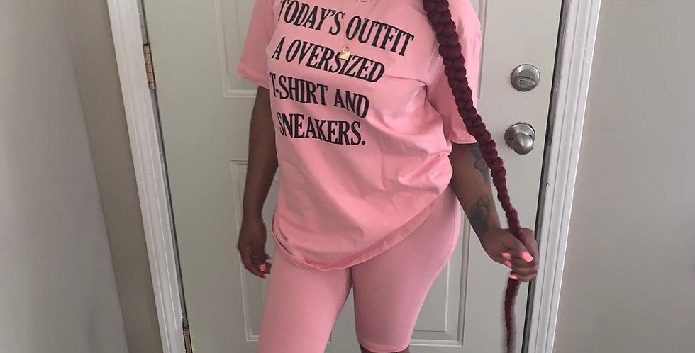 Oversized T shirt set