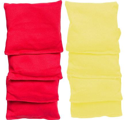 BOLSAS DE CORNHOLE. Rojo y amarillo