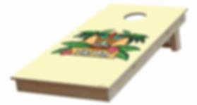cornhole personnalise avec un logo de bar