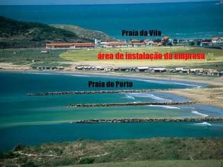 A Praia da Vila em Imbituba em Ameaça