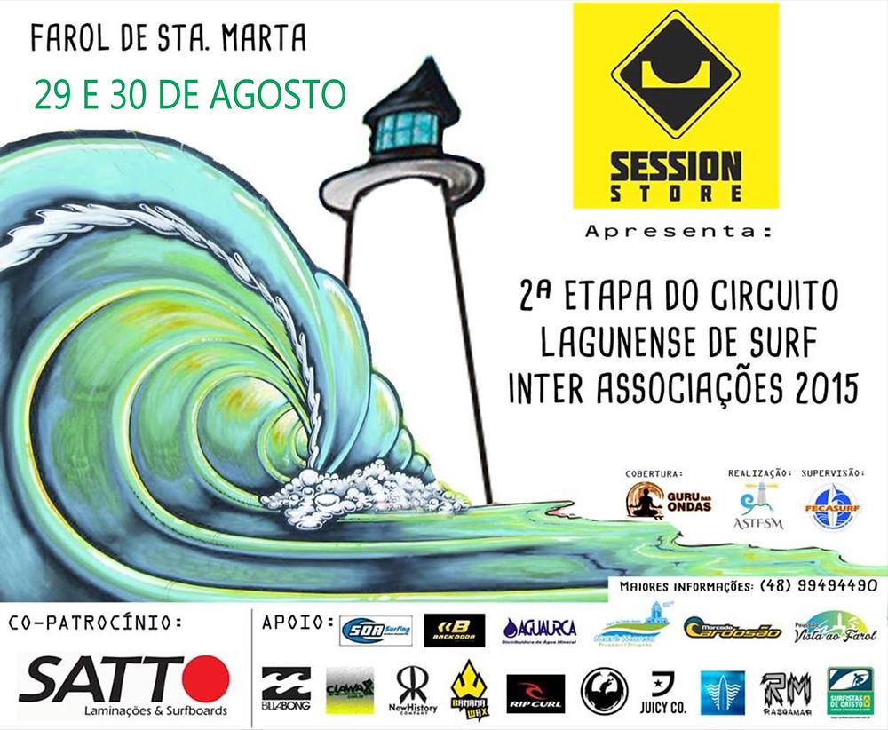 2ª Etapa do Circuito Lagunense de Surf Inter Associações 2015 – Farol de Santa Marta
