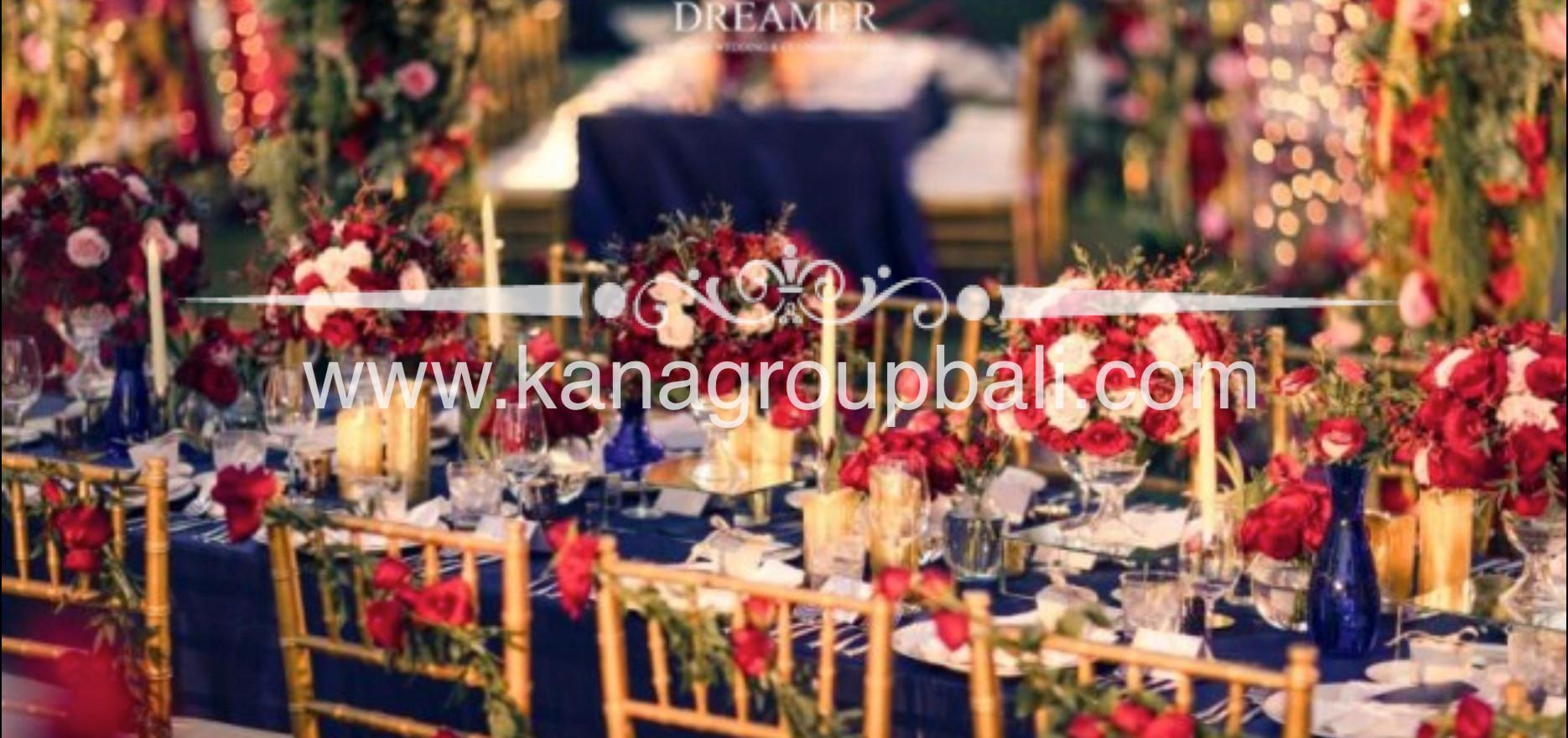 navy blue red maroon flower centerpiece wedding bali.jpg