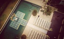 aerial wedding bali