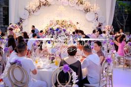 chandelier big tent rhodes wedding