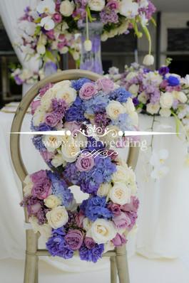bride chair decoration flower