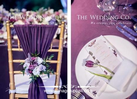 hanging purple theme ceremony bali