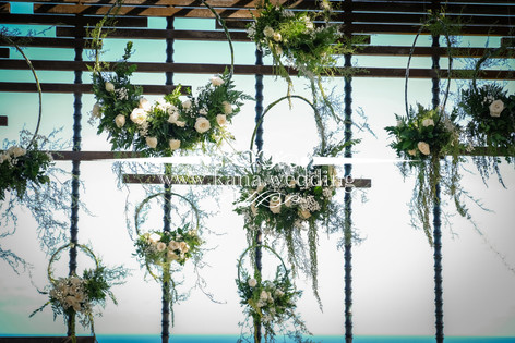 green forest wedding theme