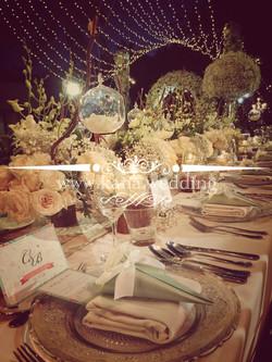 wedding table setup bali