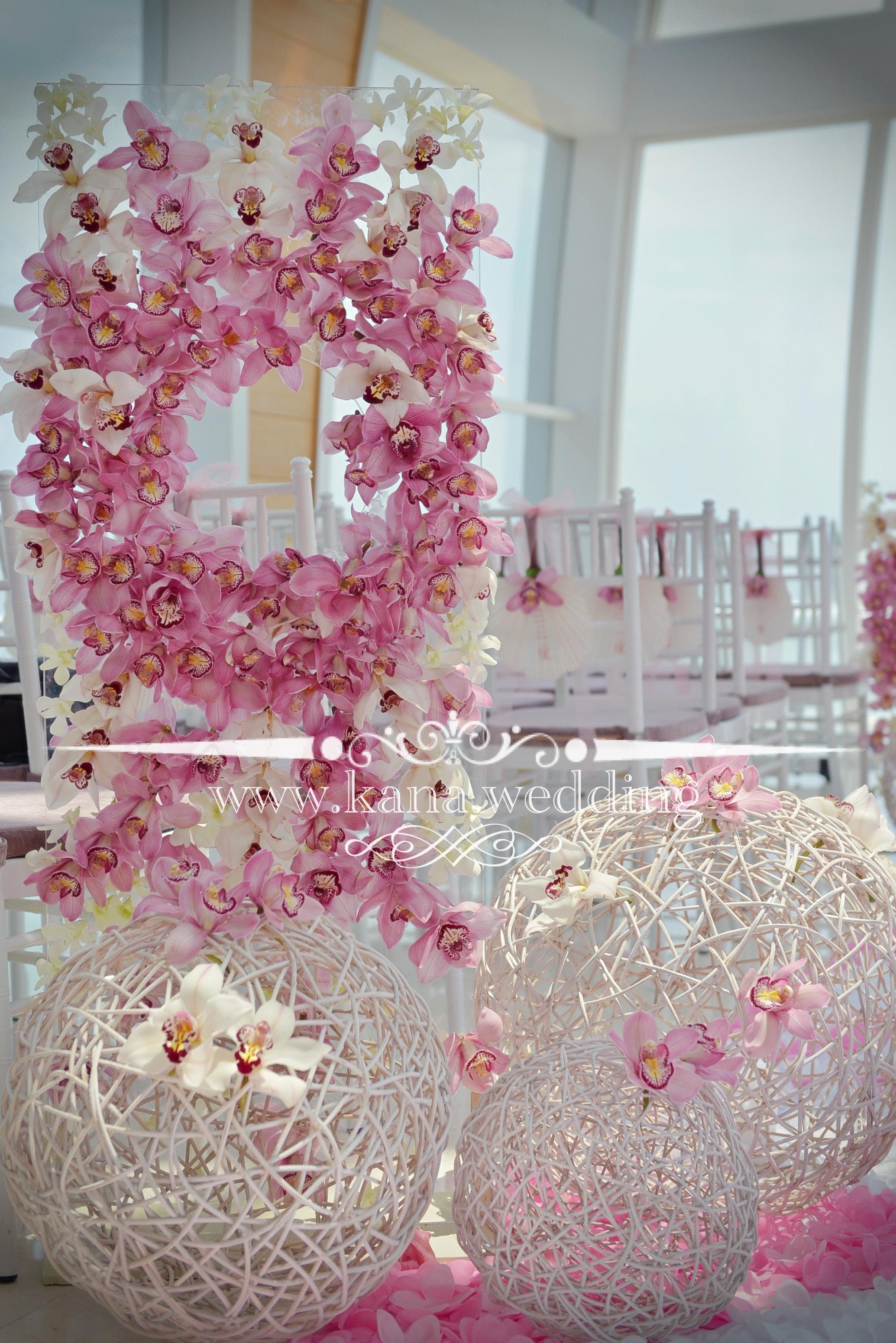 pink white bali florist