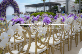 chair flower decor for ceremony