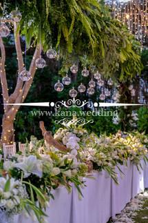 white green wedding color