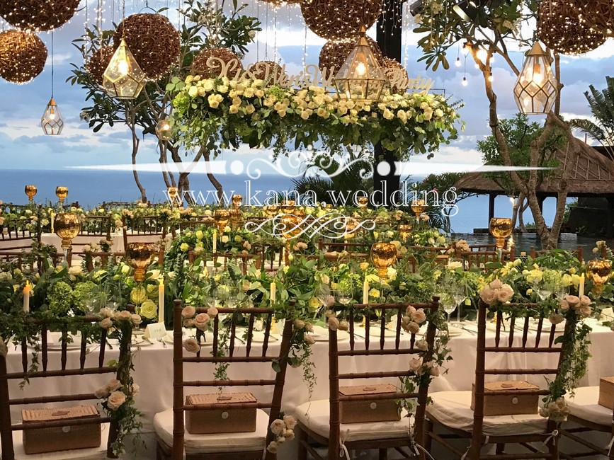 forest theme wedding dinner