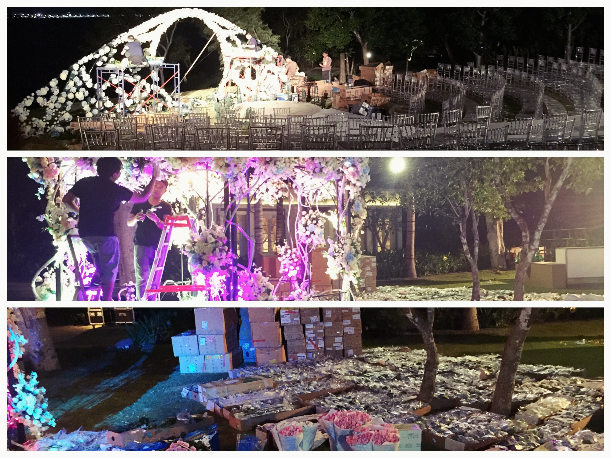 wedding production on progress bali