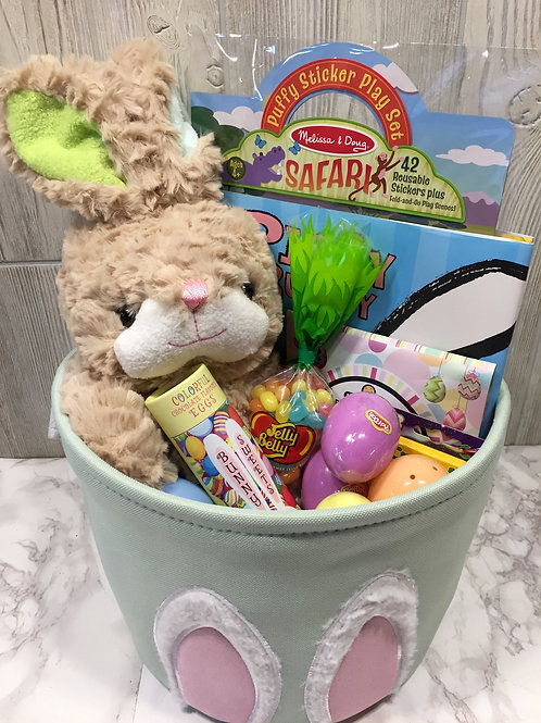 Green Bunny Ears Easter Basket