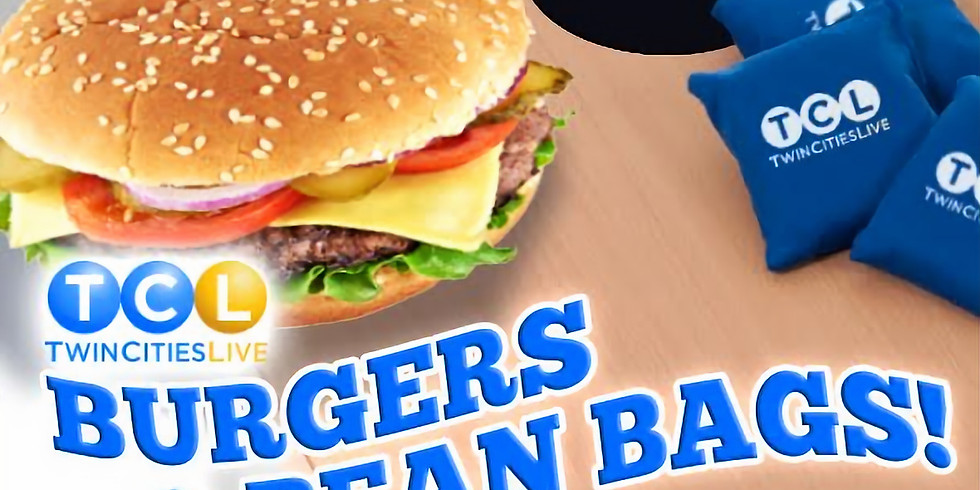 Burgers & Bean bags with Twin Cities Live!