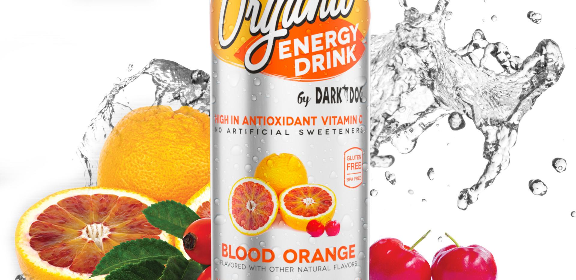 ORGANIC ENERGY DRINK BY DARK DOG BLOOD ORANGE