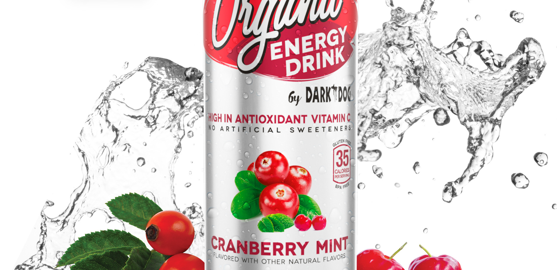 ORGANIC ENERGY DRINK BY DARK DOG CRANBERRY MINT