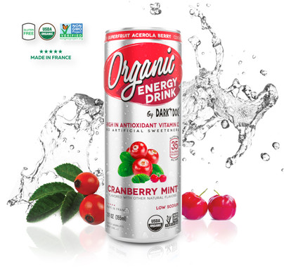 ORGANIC ENERGY DRINK BY DARK DOG CRANBERRY MINT