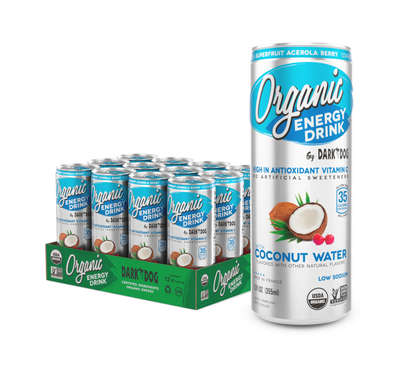 ORGANIC ENERGY DRINK BY DARK DOG COCONUT WATER