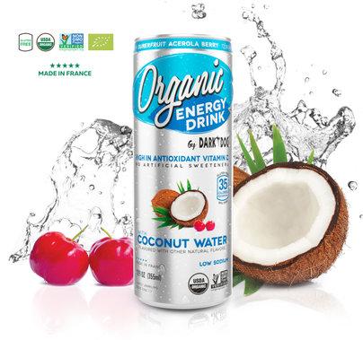 ORGANIC ENERGY DRINK BY DARK DOG COCONUT WATER