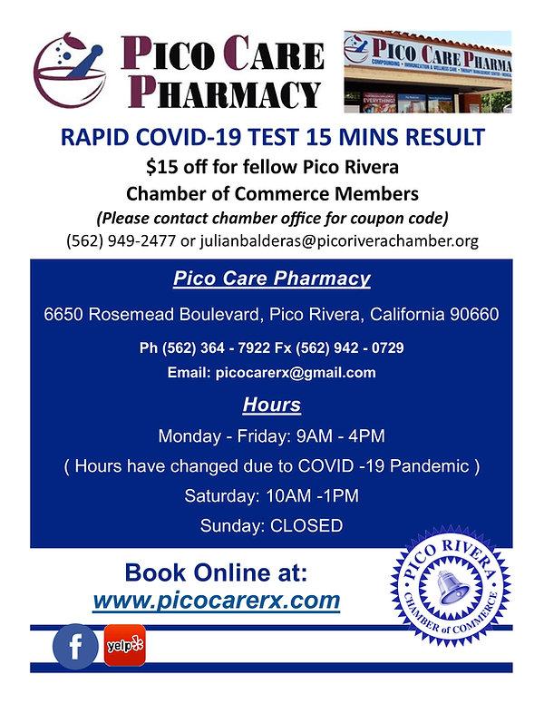 Pico Care Pharmacy COVID Member Discount