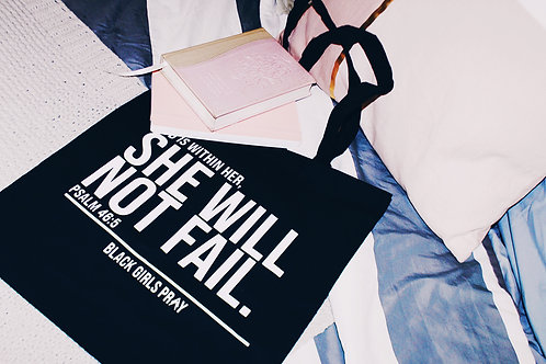 She Will Not Fail. Canvas Tote
