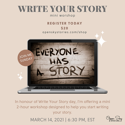 Write Your Story - mini workshop