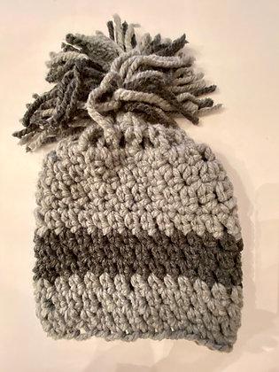 Beanie Striped Hat with Pom Pom 15
