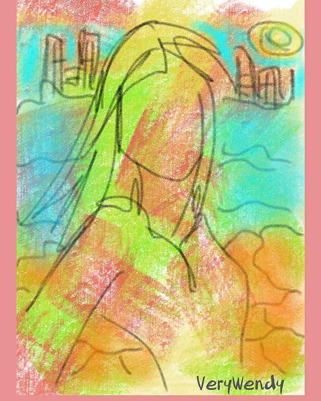 Finger painting -_-_-_#digitalart #fashi