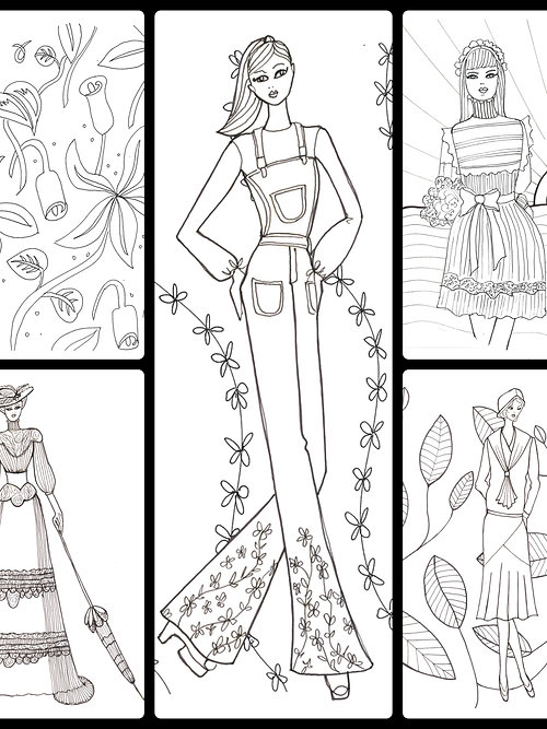 very wendys fashion coloring book - Fashion Coloring Book