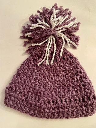 Pom Pom Chunky Knit Purple 07