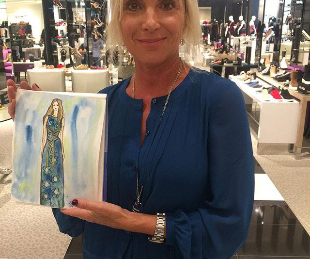 Live sketching for _toryburch _bloomingd