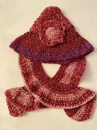Hippy Hat with Scarf 01