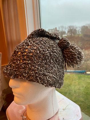 Knit Hat with Small Pom Pom14