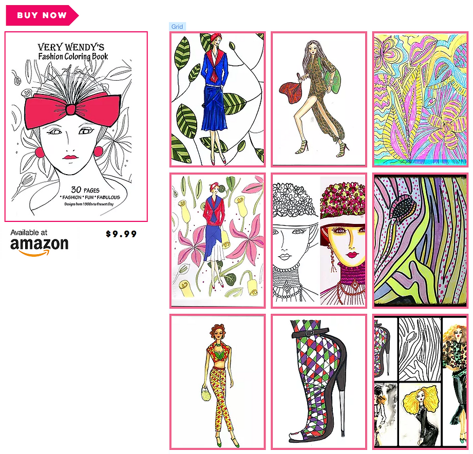 calling all coloring book enthusiasts and fashionistas very wendys fashion coloring book is here - Fashion Coloring Book