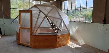 serre dome / serre geodesique