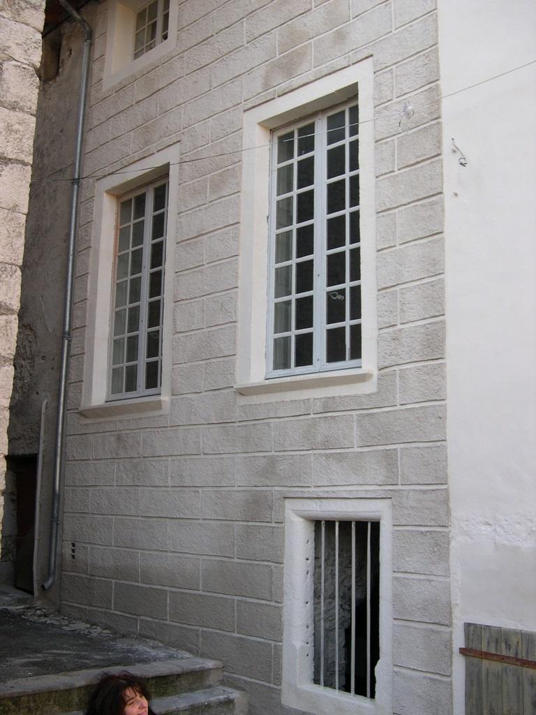 Fenêtres et façade rue du roi