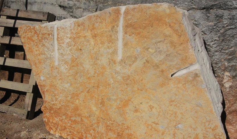 laje de calcário laranja