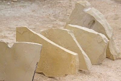 Lajes de pedra creme