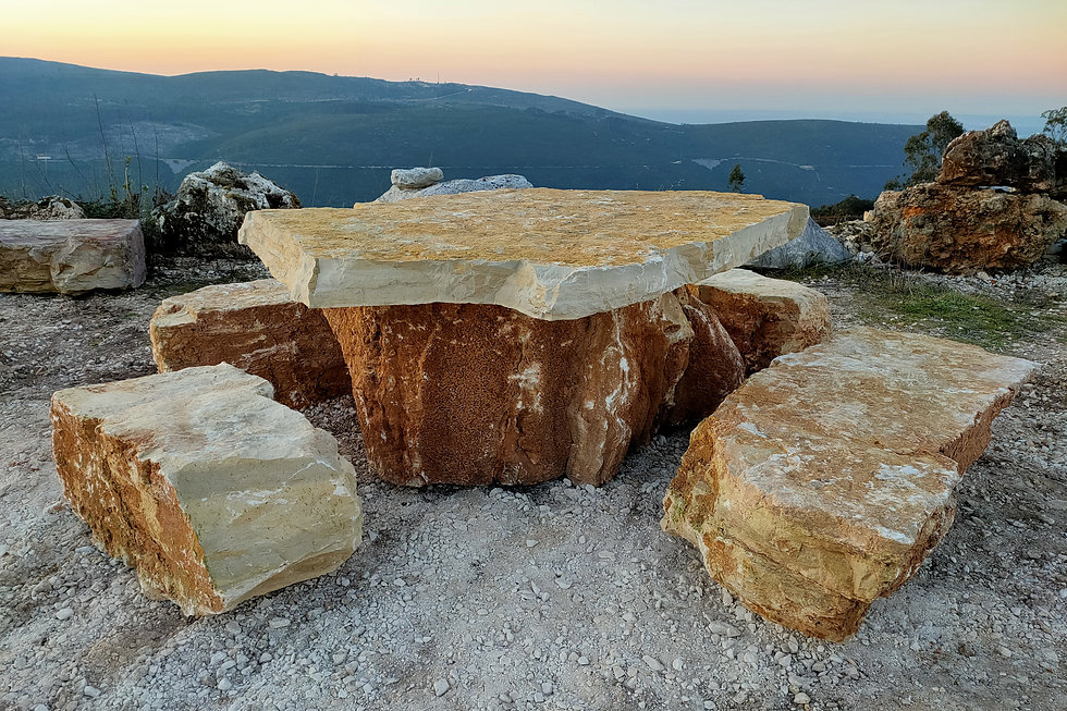 mobiliario de jardim de pedra natural rústica