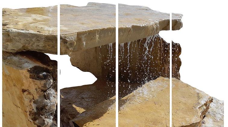 Cascata com lajes de pedra