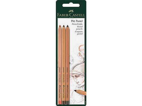 pastelpotlood Faber-Castell Pitt 3 stuks op blister